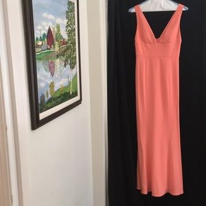 Coral or orange gown Laundry Shelli Segal Size 6